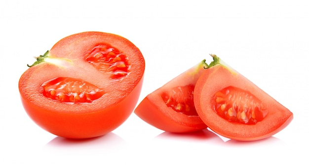 Tomatenscheibe isoliert