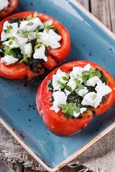 Tomatenscheiben. imbiss auf sommerpartys.