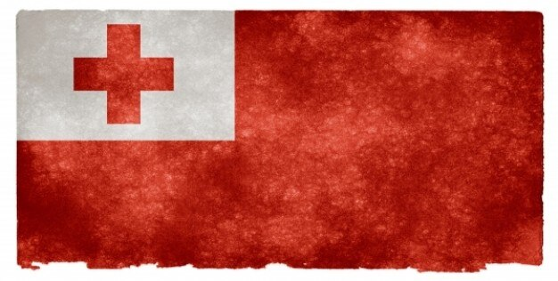 Tonga grunge flag