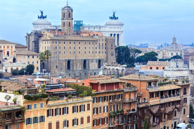 Top rom stadtansicht vom palatin, italien.