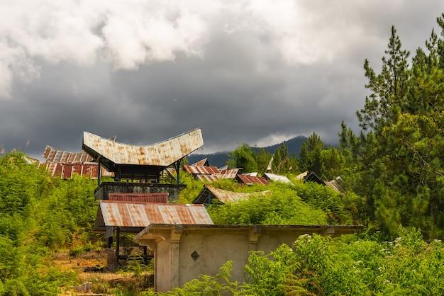 Toraja landschaft und traditionelles dorf in sulawesi indonesien