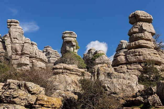 Torcal de antequera. dieser naturpark befindet sich in der nähe von antequera. spanien.