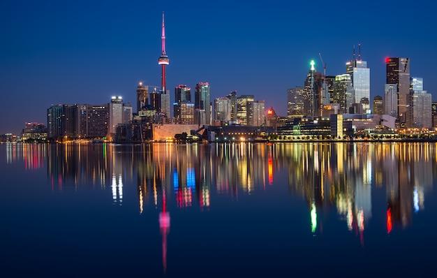 Toronto city skyline reflexion