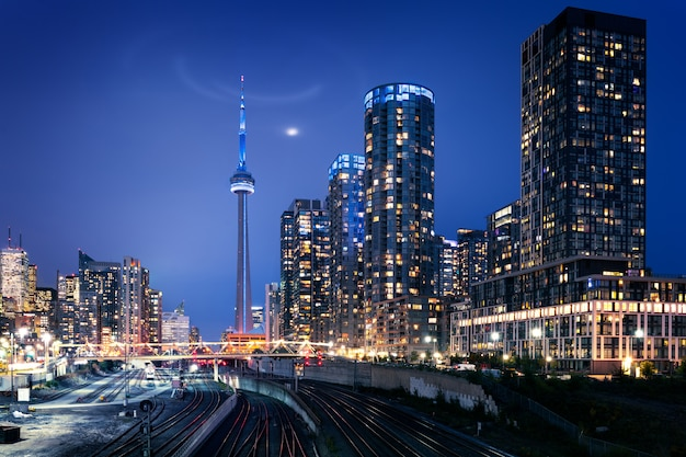 Toronto skyline bei nacht