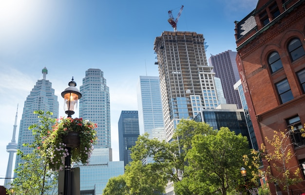 Toronto-stadtskyline, ontario, kanada