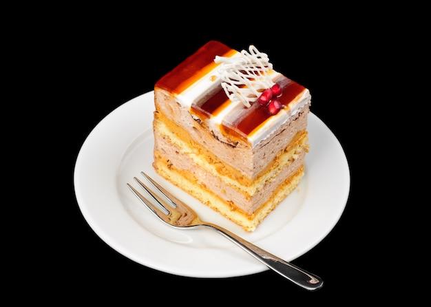 Torte mit gelee an der spitze
