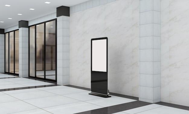 Totem und kiosk digital signage 3d gerendert
