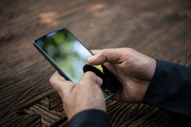 Touch-technologie-geschäft mit hintergrund