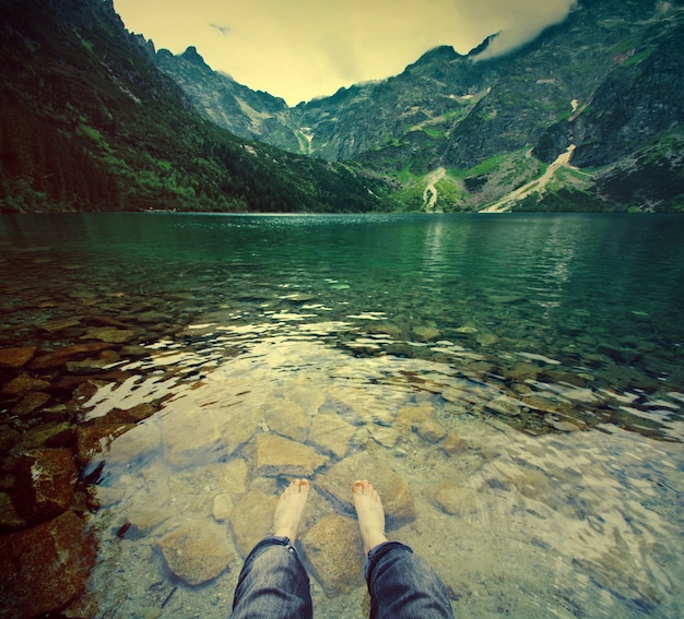 Tourismus in den bergen.