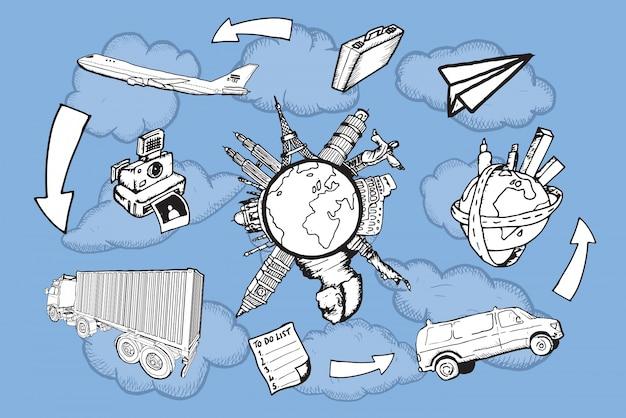 Tourismus- und reisevektoren
