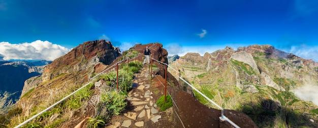 Tourist bei pico do arieiro