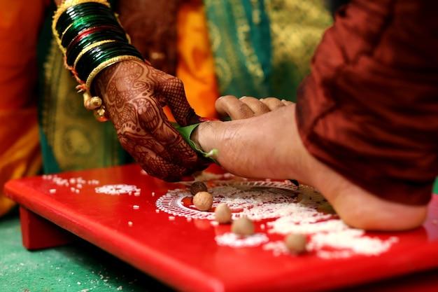Tradition des heiratens in der hinduistischen religion