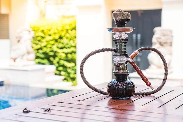 Traditionelle arabische shisha rohre huka