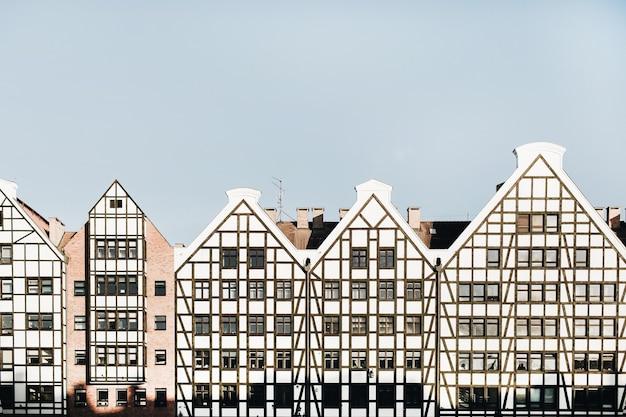 Traditionelle architekturgebäude in der altstadt