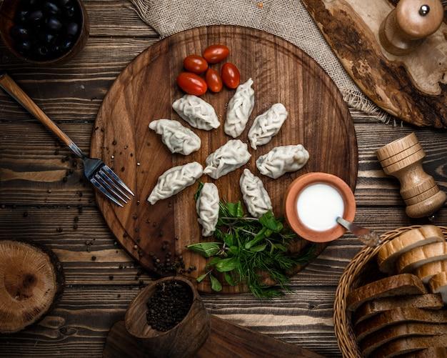 Traditionelle aserbaidschanische gurza draufsicht