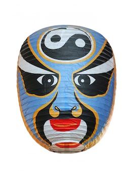 Traditionelle beleuchtungskörper der japanischen laterne oder der lampe von japan auf weiß.