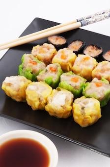 Traditionelle chinesische gedünstete dimsum-küche