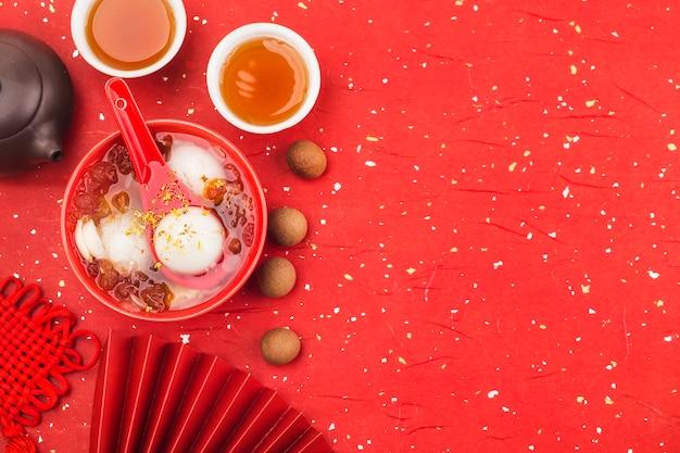 Traditionelle chinesische süße reisbällchen
