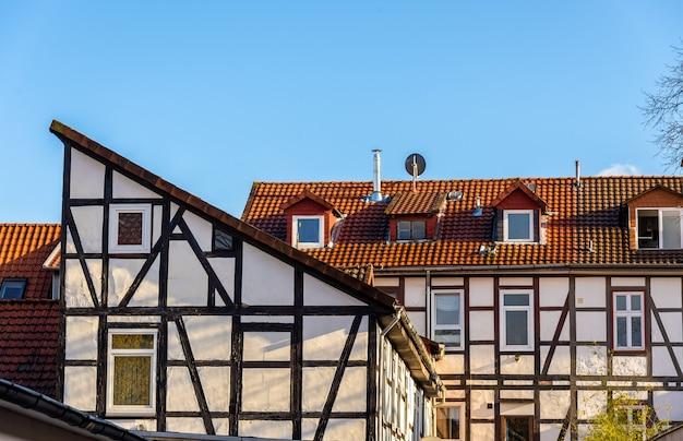Traditionelle fachwerkhäuser in göttingen, niedersachsen