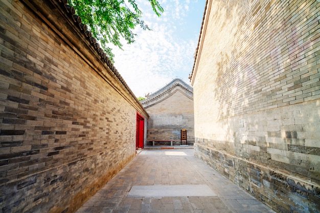 Traditionelle gasse in peking, china