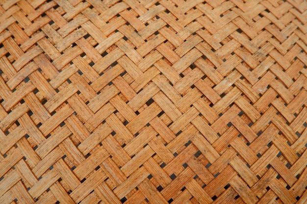 Traditionelle gewebte bambusstruktur und -details