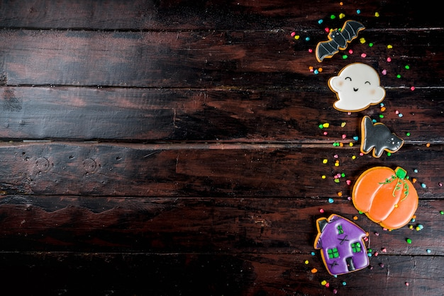 Traditionelle halloween-kekse