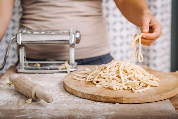 Traditionelle hausgemachte pasta