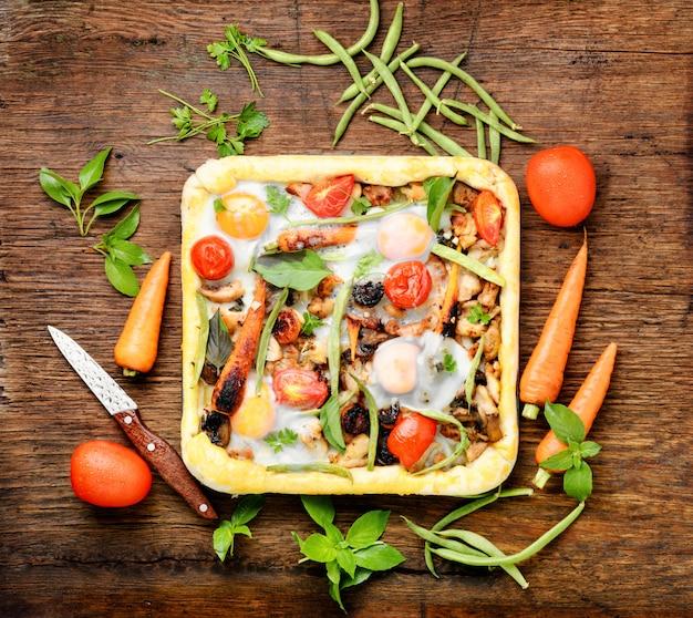Traditionelle italienische pizza
