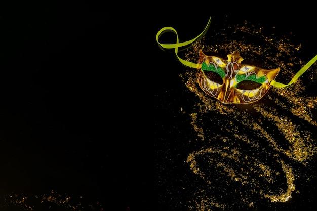 Traditionelle karnevalsmaske für maskerade. jüdischer feiertag purim.