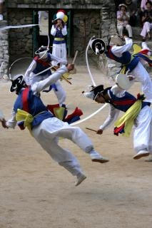 Traditionelle koreanische tanz