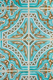 Traditionelle portugiesische azulejo-fliese