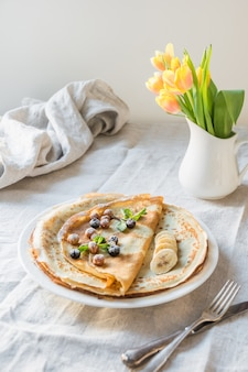 Traditionelle russische pfannkuchen.