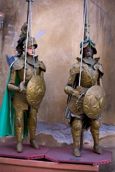 Traditionelle sizilianische marionetten