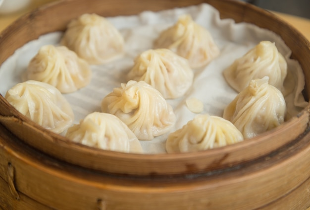Traditionelle suppenknödel xiao long bao