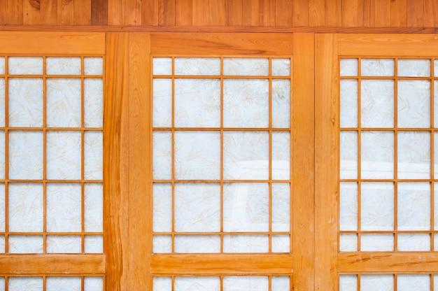 Traditionelle tür aus papier im japanischen stil, textur der japanischen schiebetür aus papier shoji