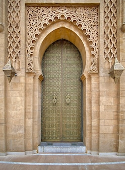Traditionelle tür in rabat marokko
