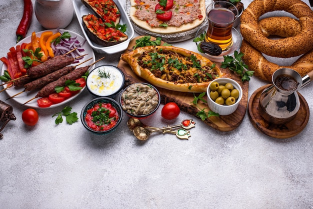 Traditionelle türkische oder nahöstliche gerichte