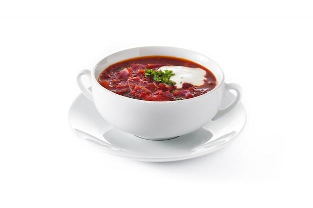 Traditionelle ukrainische borschsuppe