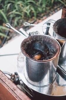 Traditionellen weißen holz nahaufnahme café Kostenlose Fotos