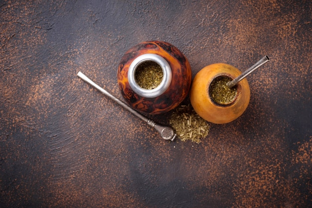 Traditioneller argentinien yerba mate tee