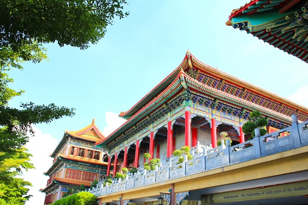 Traditioneller chinesearttempel bei wat leng-noei-yi in nonthaburi