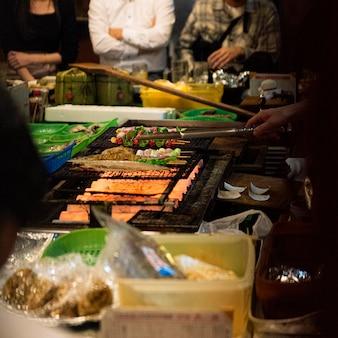 Traditioneller japanischer food court