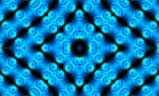 Traditioneller orientalischer hintergrund in schwarzen und blauen farben. nahtloses muster mit der bereits vorhandenen geometrie in der zeichnung.
