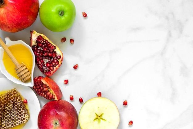 Traditionelles essen für jüdische neujahrsfeiertage, rosh hashanah