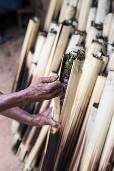 Traditionelles essen in tana toraja