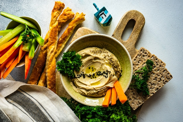 Traditionelles gericht hummus