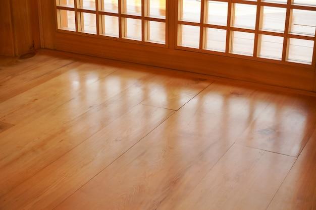 Traditionelles holz im japanischen stil, textur aus japanischem holz shoji, innendekoration holzhaus im japanischen stil