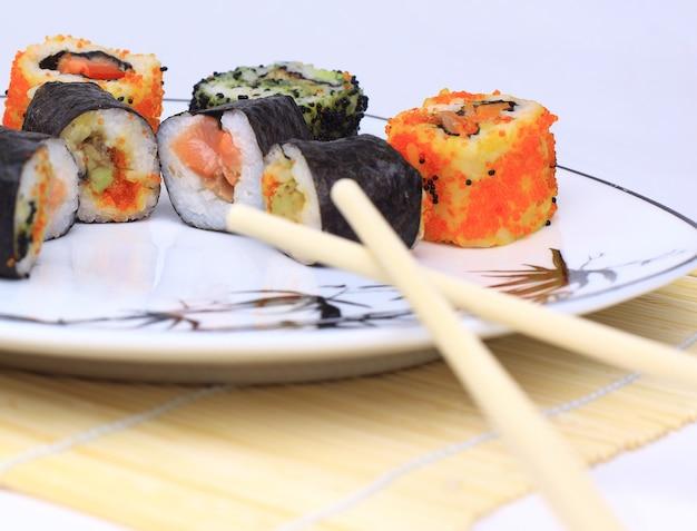 Traditionelles japanisches essen, sushi