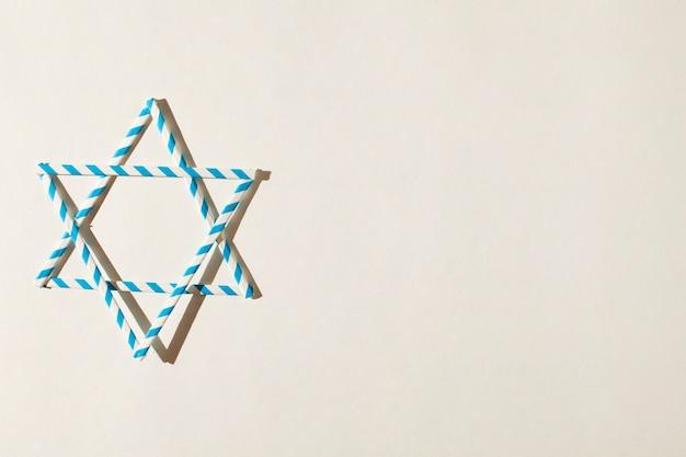 Traditionelles jüdisches zeichen mit kopienraum