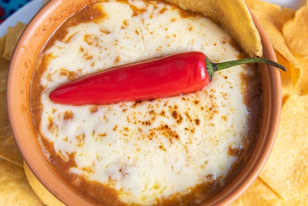 Traditionelles mexikanisches chili-gericht